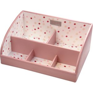 Stackers Pink Polka Dot Storage Caddy