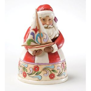 Heartwood Creek Santa Figurine Christmas Fills my Sails