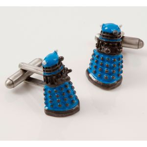 Dr Who Dalek 3D Cufflinks (blue)