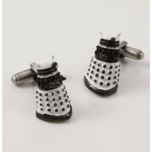 Dr Who Dalek 3D Cufflinks (White)