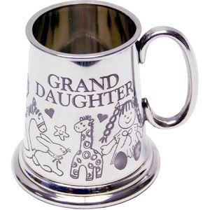 Granddaughter Baby Pewter Tankard Mug