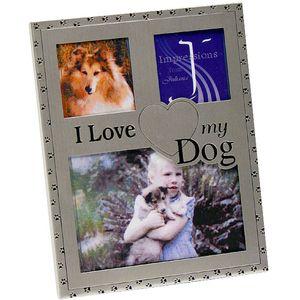 """""""I Love My Dog"""" Gun Metal finish Photo Frame"""