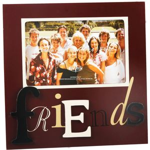 Friends Letter Photo Frame 6x4""