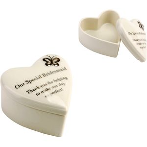 """Our Special Bridesmaid"" Heart Trinket Box"