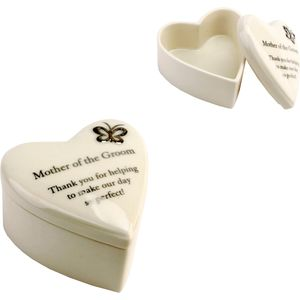 """Mother of the Groom"" Heart Trinket Box"