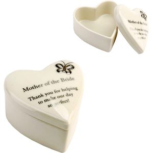 """Mother of the Bride"" Heart Trinket Box"