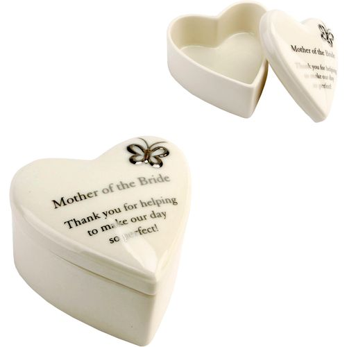 Heart Shaped Wedding Trinket Box - Mother of the Bride