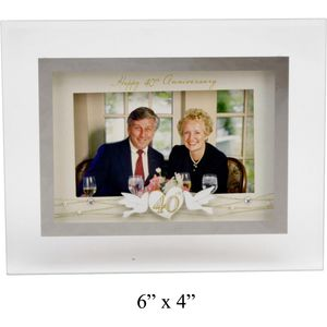 Sentiment Photo Frame 40th Anniversary