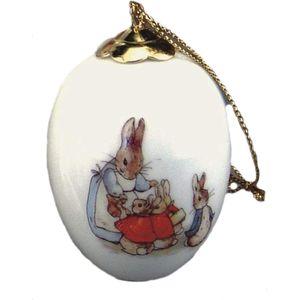 Reutter Porcelain Beatrix Potter Peter Rabbit Hanging Egg Mrs Rabbit & Bunnies