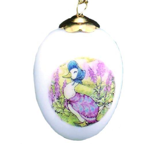 Reutter Porcelain Beatrix Potter hanging egg ornament - Jemima Puddleduck