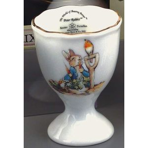 Peter Rabbit with Spade Porcelain Egg Cup
