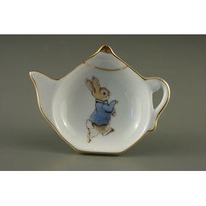 Reutter Porcelain Beatrix Potter Peter Rabbit Tea Bag Tidy: Peter