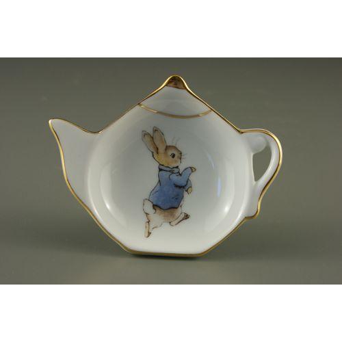 Reutter Porcelain Kitcenb tea bag tidy Peter Rabbit design