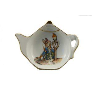 Reutter Porcelain Beatrix Potter Peter Rabbit Tea Bag Tidy: Peter in the Garden