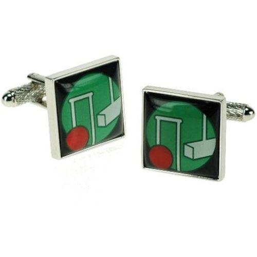 Crouquet cufflinks in cufflink gift box.,