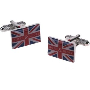 UK Union Jack Flag Hope & Glory Cufflinks