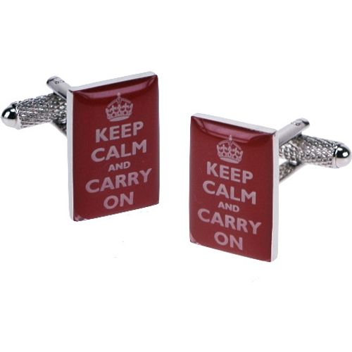Keep Calm and Carry On Novelty  Cufflinks