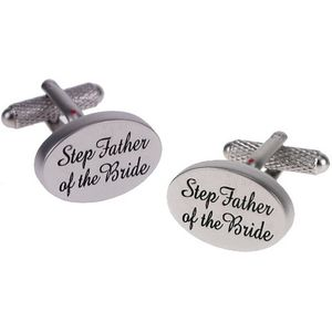 Step Father of the Bride Wedding Cufflinks
