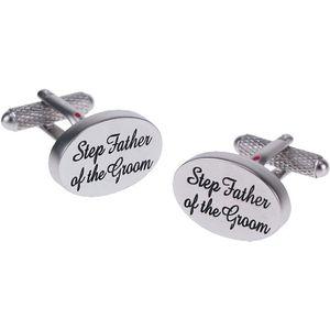 Step Father of the Groom Wedding Cufflinks