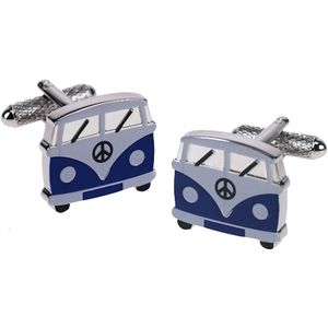 Blue VW Camper Van Cufflinks