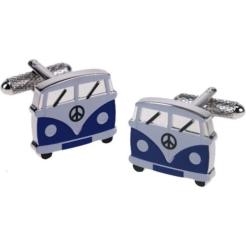 Blue VW Camper Van Novelty  Cufflinks