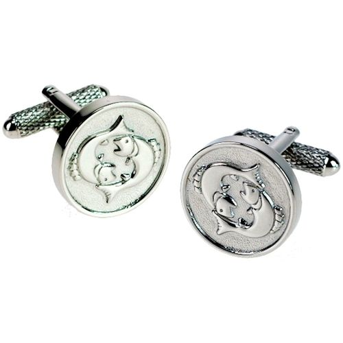 Pisces Sign of the Zodiac Novelty Cufflinks Ref CK717
