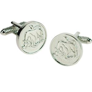 Taurus Sign of the Zodiac Cufflinks