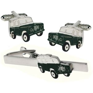 Land Rover Tie Bar & Cufflinks Gift Set