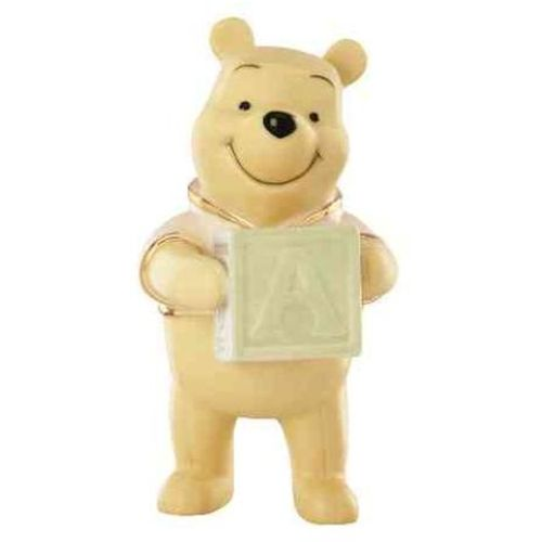 Winnie the Pooh holding Alphabet Block Disney Lenox China Figurine