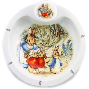 Reutter Porcelain Beatrix Potter Peter Rabbit Baby Food Warming Plate