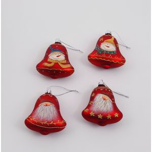 Christmas Tree Decorations 4 Pack - Red Bells