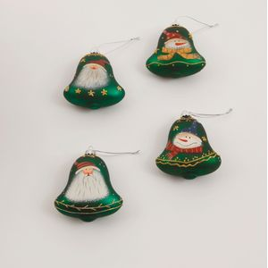 Christmas Tree Decorations 4 Pack - Green Bells