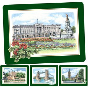 Lilliput Lane UK Heritage Dinner Mats (Set of 4)