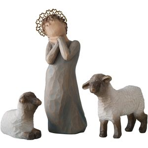 Willow Tree Nativity Little Shepherdess Figurine Set