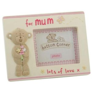 "Button Corner Photo Frame 2"" x 3"" - For Mum"