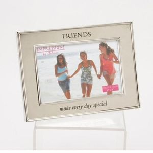 Friends Shiny Silver Plated Photo Frame
