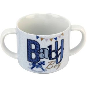 Laura Darrington Double Handle China Mug - Baby Boy