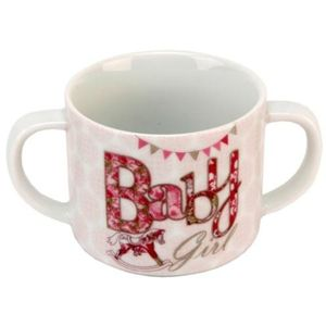 Laura Darrington Double Handle China Mug - Baby Girl