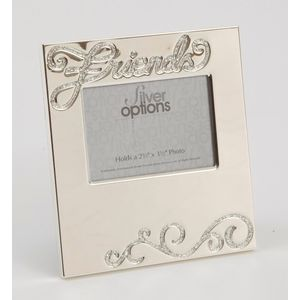 "Silver Options Photo Frame 2.5"" x 3.5"" - Friends"