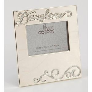 "Silver Options Photo Frame 2.5"" x 3.5"" - Daughter"