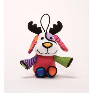 Romero Britto Plush Hanging Ornament - Reindog