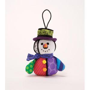 Romero Britto Plush Hanging Ornament - Snowman