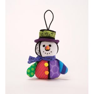 Romero Britto Snowman Hanging Ornament