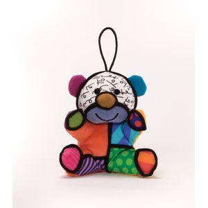 Romero Britto Plush Hanging Ornament - Festive Bear