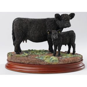 Border Fine Arts Classics - Black Galloway Cow and Calf