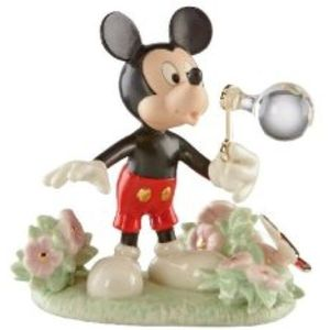 Disney Lenox Mickeys Backyard Bubbles Figurine