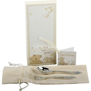 Button Corner Fork & Spoon Set