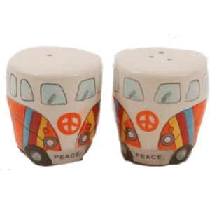 Camper Van Salt & Pepper Pot Set - Orange