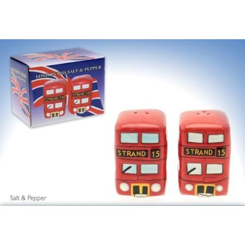 London Red Double Decker Bus Salt & Pepper Pots Ref LP17169