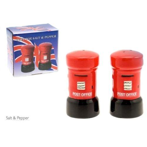 Red British Post Box Salt & Pepper Pots Ref LP17173